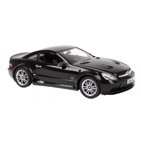 Zwarte Mercedes speelgoed auto