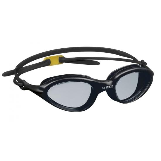 Zwarte PVC zwembril voor volwassenen