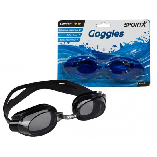 Zwarte zwembril voor volwassen