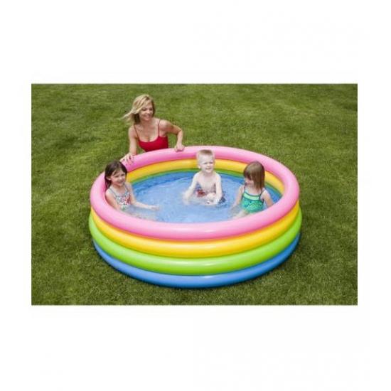 Zwembad met felle kleuren 168 cm