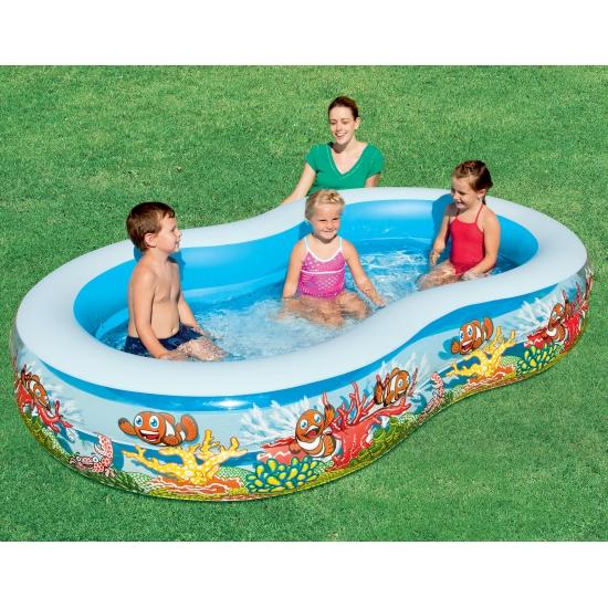 Zwembad met vissen motief 262 cm