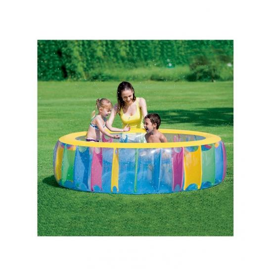 Zwembad rond multicolor 183x61 cm