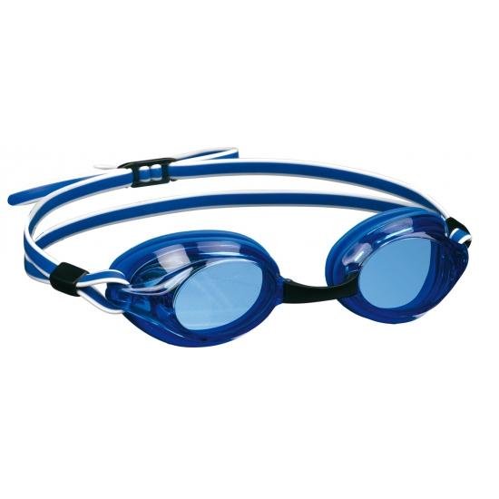 Zwembril met UV bescherming blauw/wit