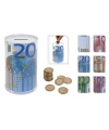 10 eurobiljet spaarpot 13 cm