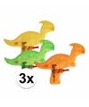 3 dinosaurus waterpistolen gekleurd