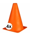 4 oranje pionnen 19 cm