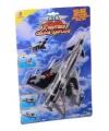 Air force speelgoed vliegtuig grijs