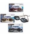 Anti chloor zwembril zwart grijs voor volwassenen