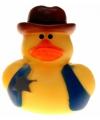 Badeendje cowboy sheriff 5 cm