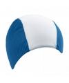 Badmuts blauw met wit