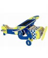 Blauw solar vliegtuig