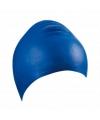 Blauwe latex badmuts voor volwassenen