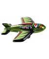 Blikken vliegtuigje groen 11 cm