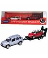Bmw x5 met auto op aanhanger speelgoed modelauto 1 60