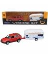 Bmw x5 met caravan speelgoed modelauto 1 34