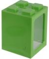 Bouwstenen spaarpot groen 11 cm