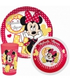 Disney minnie mouse servies set 3 delig