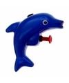 Dolfijn waterpistool blauw 9 cm