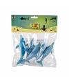 Dolfijnen familie gemaakt van rubber 5st