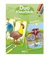 Duo kleurblok dieren boerderij