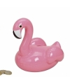 Flamingo spaarpot lichtroze 17 cm
