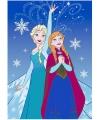 Frozen anna en elza speelkleed blauw