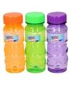 Gekleurde bellenblaas flesjes 3 stuks 115ml rood oranje paars