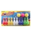 Gekleurde bowling set voor kinderen 9 cm