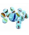 Glazen gekleurde knikkers 21 stuks