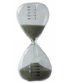 Glazen zandloper bruin 5 minuten