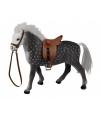 Grijs paard met zadel 23 cm