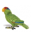 Groene amazone papegaai van plastic 7 cm