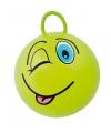 Groene skippybal met gezicht 45cm
