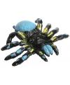 Halloween plastic knijpdier blauwe spin