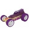 Hotrod paarse bamboe speelgoed auto 8 cm