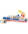 Houten container schip speelgoed set 8 delig