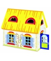 Houten poppenhuis 39 5 x 24 5 x 35 cm
