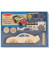 Houten race auto bouwpakket