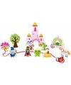Houten sprookjeskasteel speelgoed set 12 delig