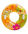 Intex zwemband oranje met bloemen 97 cm