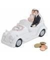 Just married trouwauto spaarpot 16 cm