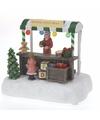 Kerstdorp maken verkoopstalletje met led licht speelgoed