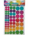 Kinder hobby plak stickers cirkels 6 vellen