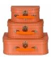 Kinderkoffertje pastel oranje 20 cm