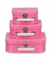 Kinderkoffertje roze 20 cm