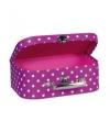Koffer fuchsia met polkadots 25 cm