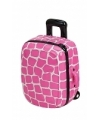 Koffer spaarpot roze schildpad