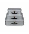 Koffertje zilver 25 cm