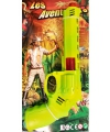 Lichtgroen speelgoed pistool 28 cm