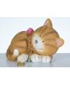 Liggende kat spaarpot 22 cm